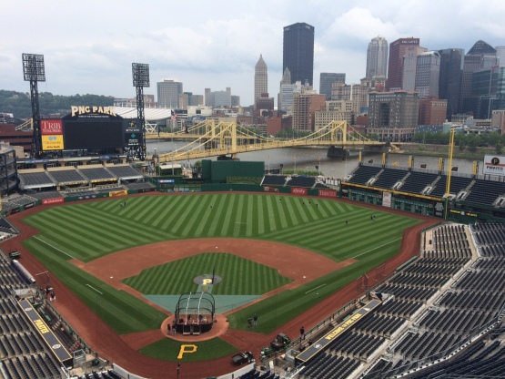 View from the radio booth at PNC Park in Pittsburgh